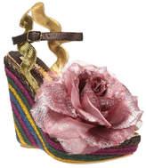 Irregular Choice Gold & Pink Weaver Wedge Sandal