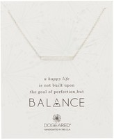 Dogeared Sterling Silver Balance Bar A Happy Life Plate Necklace