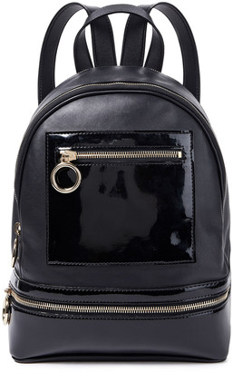 Moschino Textured And Patent-leather Backpack