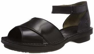 Fly London Women's FIOL475FLY Ankle Strap Sandals Black (Black/Black (Black Sole) 000) 5 UK 38 EU