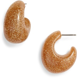 Kate Spade Glitter 41mm Hoop Earrings