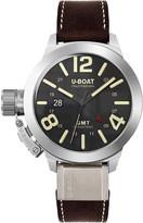 U-Boat 8050 Classico black round brown strap watch