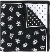 Alexander McQueen printed pocket square - men - Silk - One Size