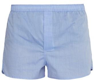 Derek Rose Modern Cotton Boxer Briefs - Mens - Blue