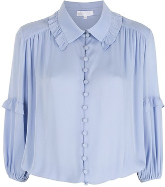 Nk Silk Ruched Shirt