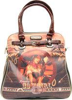 Nicole Lee Women's Cowgirl Wheel Western Print Shoulder Bag