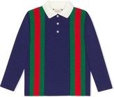 Gucci Kids Children's jersey polo with Web