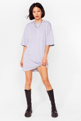 Nasty Gal Womens Tell Tee About It Relaxed Mini Dress - Ash