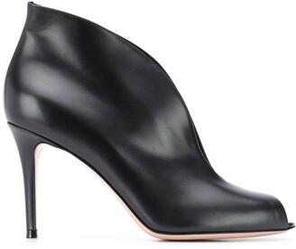 Gianvito Rossi Peep Toe Boots