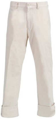 Dries Van Noten White Petricks Cuffed Pants