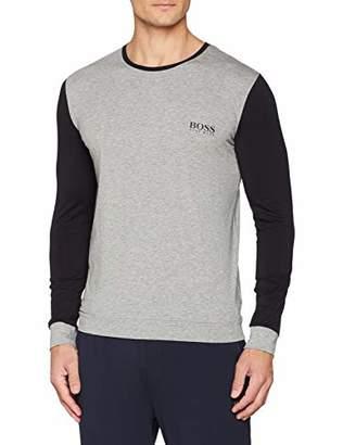 BOSS Men's Balance Ls-Shirt Rn Long Sleeve Top, (Dark Red 609), Small