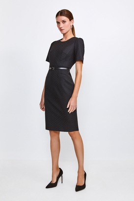 Karen Millen Pinspot Sleeved Shift Dress