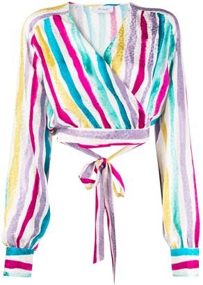 ART DEALER Artistic Stripe Print Blouse
