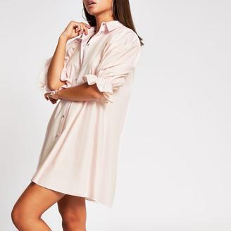 River Island Womens Pink mini shirt dress