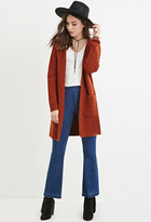 Forever 21 FOREVER 21+ Wool-Blend Hooded Cardigan