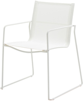 Houseology Gloster Asta Stacking Chair with Arms - White Frame - White