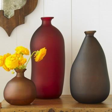 Viva Terra Recycled Jewel-Tone Vases