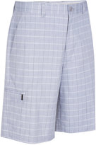 Greg Norman for Tasso Elba Men's Big & Tall 5 Iron Plaid Performance Golf Shorts