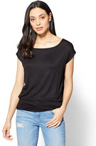New York & Co. Soho Soft Tee - Shirred Dolman