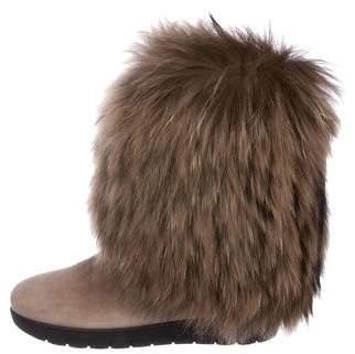 Aquatalia Wilamina Fur Boots w/ Tags