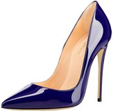 MERUMOTE Women's Pointed Toe Stiletto High Heel Patent Leather Dress Party Usual Pumps Black 7 US