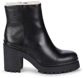 Rebecca Minkoff Milana Shearling Leather Combat Boots