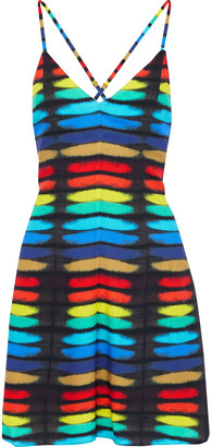 Alice + Olivia Alves Printed Crepe Mini Dress