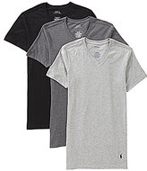 Polo Ralph Lauren Slim-Fit Cotton V-Neck Assorted 3-Pack of Tees