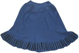 Alaia Blue Cotton Shorts for Women Vintage
