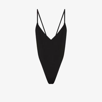ATTICO Plunging open back bodysuit