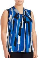 Calvin Klein Printed Twist-Neck Top