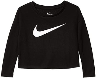 Nike Kids Awesome Long Sleeve Graphic Top (Toddler) (Black) Girl's Clothing