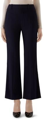 Gucci Crepe Wool & Silk Flare Pants