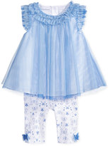 First Impressions 2-Pc. Flutter-Sleeve Tunic & Butterfly-Print Leggings Set, Baby Girls (0-24 months), Only at Macy's