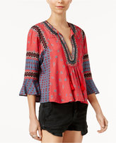Free People But I Like It Embroidered Peasant Top