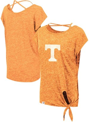 Colosseum Women's Tennessee Orange Tennessee Volunteers Como Speckle Yarn Tie Front T-Shirt