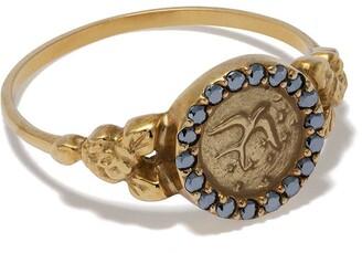 Feidt Paris 9kt Yellow Gold Bird Sapphire Ring