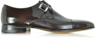 Moreschi Nancy Dark Brown Peccary Leather Monk Strap Shoe
