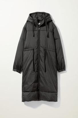 Weekday Ally Long Puffer Jacket - Black