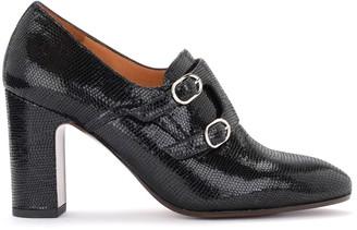 Chie Mihara Elia Heeled Shoe In Black Printed Leather
