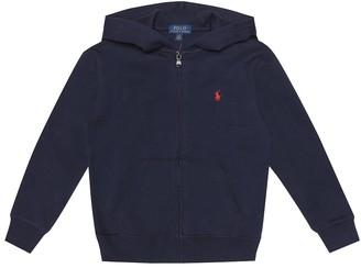 Polo Ralph Lauren Kids Embroidered cotton-blend hoodie