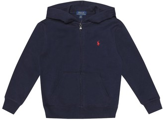 Polo Ralph Lauren Embroidered cotton-blend hoodie