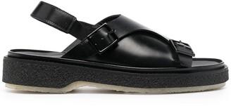 Adieu Paris Chunky Double-Buckle Sandals