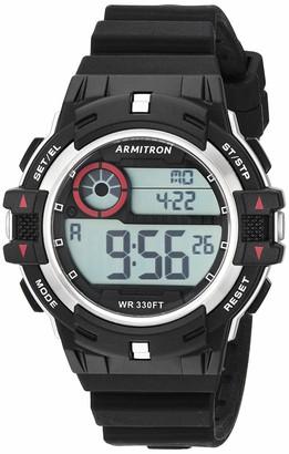 Armitron Sport Unisex 45/7112SBK Digital Black Silicone Strap Watch