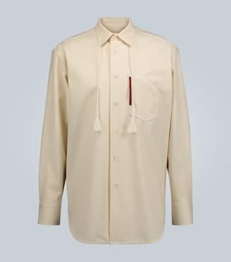 Jil Sander Tasseled-collar overshirt
