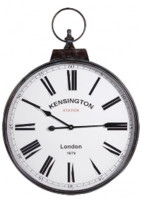 Sue Parkinson Home Collection - Kensington Station Wall Clock - White/Brown