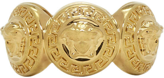 Versace Gold Multiple Coins Ring