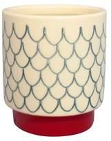 Threshold White Stoneware Hand-painted Pot