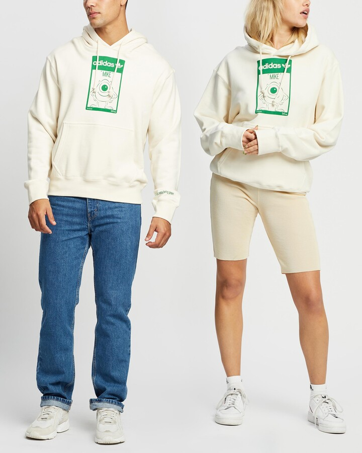 adidas White Hoodies - Mike Hoodie - Unisex - Size M at The Iconic