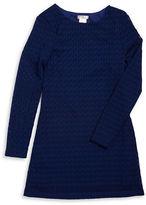 Sally Miller Girls 7-16 Crocheted Lace Shift Dress